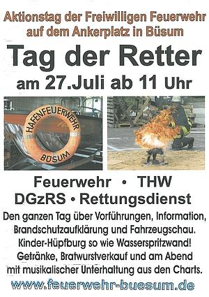 Plakat zum Tag der Retter in Büsum